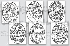 Easter egg herb patterns coloring book PDF printable Product Image 2