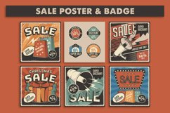Retro Sale Discount Poster and Badge Product Image 1