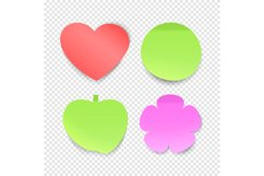 Memo stickers vector collection, sticky notes isolated on tr Product Image 1
