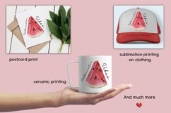 Sublimation design Watermelon Vibes, Summer Print, PNG/JPG Product Image 3