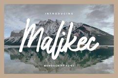 Malikec   Mono Script Font Product Image 1