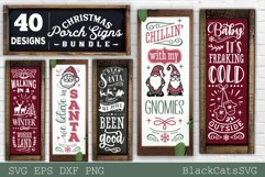 Christmas porch signs bundle SVG Vertical signs SVG Bundle Product Image 1