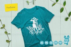 House Plants svg, Girl Vector Cut File, plants svg files Product Image 2