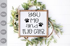 You, Me and The Cats- Farmhouse Sign SVG Cut File Product Image 1