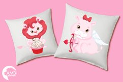 Happy Valentine clipart, Valentine jungle clipart, graphics illustrations AMB-1577 Product Image 2
