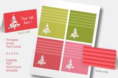 Foldable Cards Christmas Tree Editable PDF Word Docx PNG Product Image 2