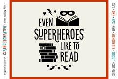 Even SUPERHEROES like to READ! - Cricut Silhouette cut file Product Image 1