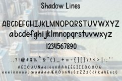 Shadow Lines - A fun font duo - WEB FONT Product Image 2
