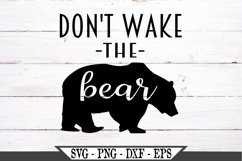 Don't Wake The Bear SVG Product Image 2
