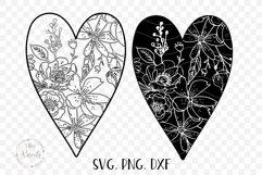 Valentines Love Heart with a Floral Pattern Product Image 2