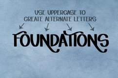 Web Font Forward World - A Swoosh-y Lettering Font Product Image 6