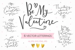 Be My Valentine, 6 letterings Product Image 1