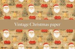 Vintage Christmas digital paper pattern Product Image 4