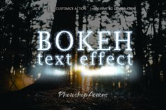 Bokeh Text Effect Photoshop Action Product Image 1