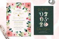 Sweet Floral Wedding Invitation Set Product Image 2