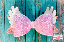 Magical Unicorn Angel Wings Hair Bow Template Product Image 2