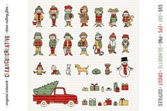 Cute Christmas Clan - Family Characters svg cutfiles vector Product Image 6