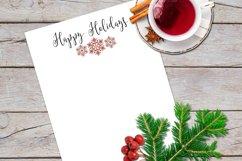 Christmas Clip Art, Peppermint & Mocha Snowflakes Product Image 5