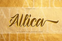 Allica - Handwritten Script Font Product Image 1