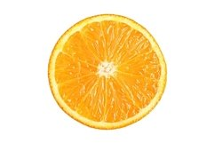 Stock Photo - Ripe cut tangerines top view isolated Product Image 1