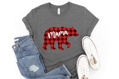 Mama bear svg Mama bear christmas Buffalo plaid christmas Product Image 4
