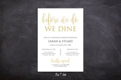 Gold Before we do we dine invitation, Printable rehearsal Product Image 2