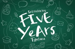 Five Years Typeface Product Image 1