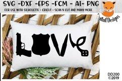 Police Love SVG - Silhouette - Cricut - Scan N Cut Product Image 1