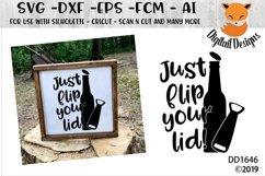 Just Flip Your Lid Bottle Opener SVG Product Image 1