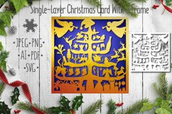 3D Crafts Happy New Year Christmas greeting card with fir Product Image 2
