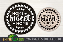 Fall Bundle Fall SVG Round Sign Farmhouse Home Thanksgiving Product Image 3