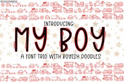 My Boy - A Font Trio With Boyish Doodles Product Image 1