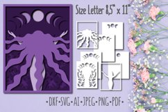 Papercut 3D Picture Moon Woman Layered Design Product Image 1
