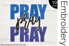 Pray Pray - Embroidery Files - 1479e Product Image 1