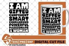 I Am A Woman svg, Affirmation svg, Black Woman, Sublimation Product Image 1