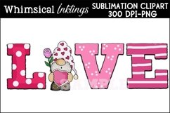 Love Gnome Sublimation Clipart Product Image 1