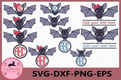 Bat Monogram SVG, Bat svg, Bat clipart, Silhouette, clipart Product Image 1