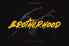 Brotherhood - Brush Script Font Product Image 1