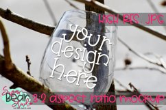 Wine Glass in Tree Mockup Product Image 1