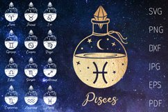 Zodiac signs svg bundle, horoscope, astrology svg witchcraft Product Image 1