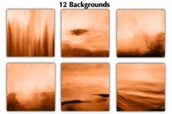 12 Orange Watercolor Ombre Backgrounds Product Image 2