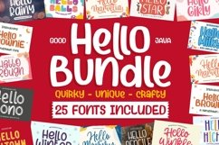 HELLO BUNDLE for all DESIGN CRAFTER Product Image 1