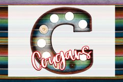 Cougars Serape Marquee Sublimation PNG Product Image 1