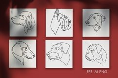 16 Dogs line drawings. Dog breeds Product Image 4