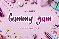 Gummy gum - cartoon font Product Image 2