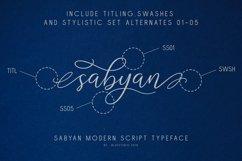 Sabyan // Modern Script Typeface Product Image 3