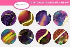 10 Galaxy Print&Cut Round Acrylic Keychain Background Design Product Image 2