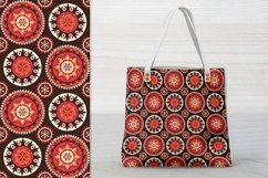 Ethnic Digital Paper, Mandala Seamless Pattern, Uzbek Suzani Product Image 4