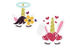 Unicorn Easter Bunny SVG in SVG, DXF, EPS, PNG, JPG Product Image 3