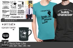 Teacher Life - Teacher SVG and Cut Files for Crafters Product Image 2